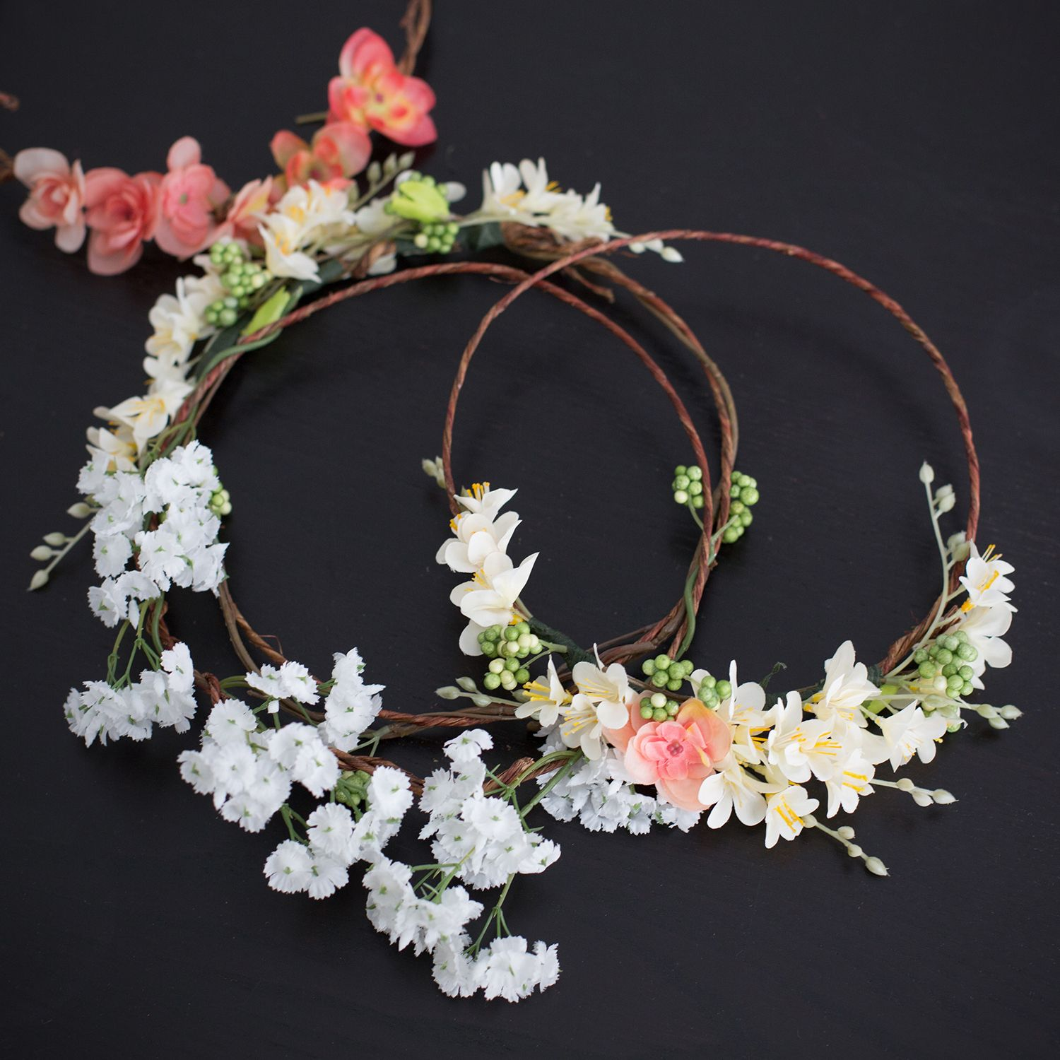 instructions for asssembling a flower crown